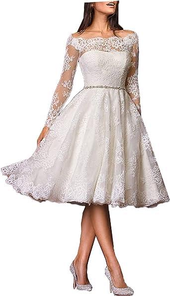 Lorder Queen Lorderqueen Women S Elegant Lace Short Wedding Dress