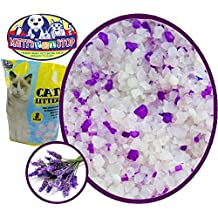 Matty's Pet Stop Crystal Silica Non Clumping Cat Litter with Lavender Scented Odor Control, 8 Pounds