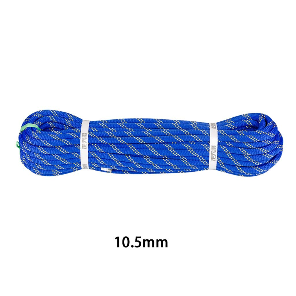 QARYYQ Corde d'escalade Corde Corde de Nylon Corde Travail aérien diamètre 10.5mm Bleu Cordes (Taille   10.5mm 20m) 10.5mm 30m