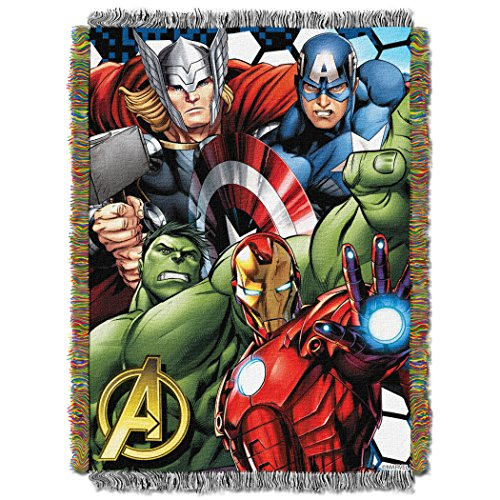 Marvel The Avengers,Best Team Woven Tapestry Throw Blanket, 48