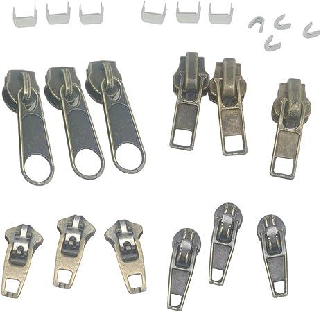 fityle 22pcs cremallera Cierre Recambio de repuesto cremallera lugar cursori coser costura DIY: Amazon.es: Hogar