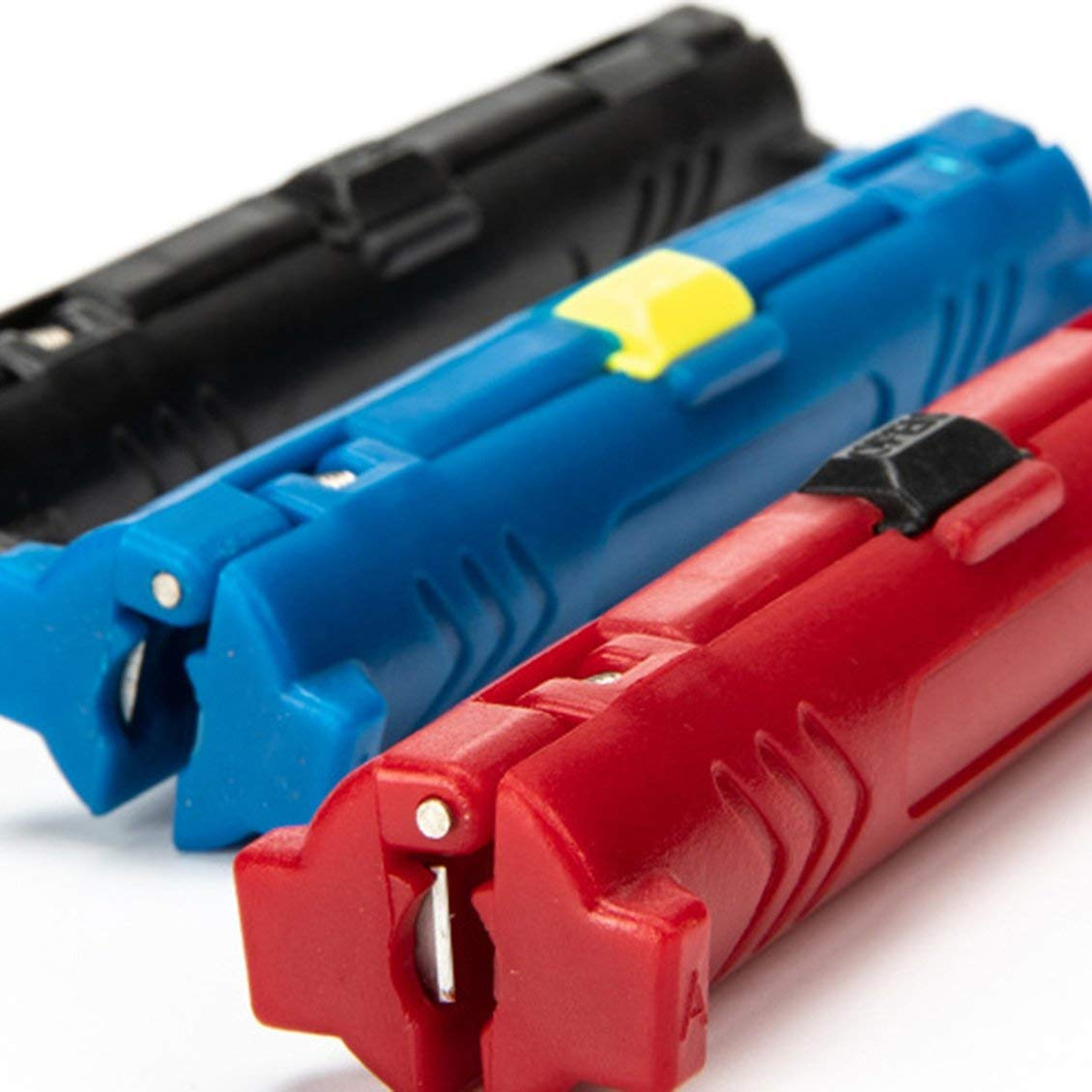 M/áquina multifunci/ón Pluma rotativa Cable coaxial Cortador de cable coaxial M/áquina cortadora pelacables herramienta para pelacables Negro