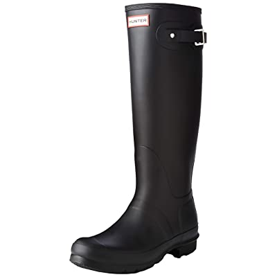 Hunter Women's Original Tall Black Rain Boots - 10 B(M) US   Rain Footwear