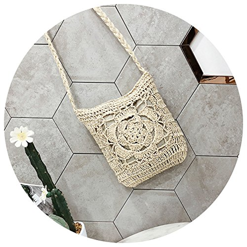 wind bag straw simple shoulder fashion bag braided 2018 female summer White Messenger national czYxT