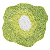 InterDesign Poppy Bedroom and Bathroom Accent  Rug, Green/White