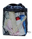 George Jimmy Hiking Quick Dry Mesh Shower Accessories Bag Breathable Bath Tote-Black