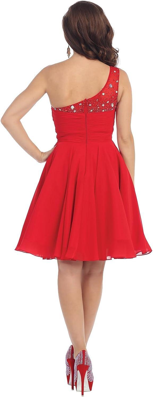 US Fairytailes One Strap Chiffon Sassy Dress #21187