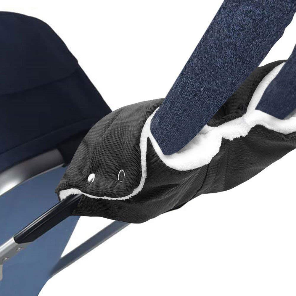 Wasser- und windabweisend Winter Winddicht Handy Abdeckung und 2 Klettverschluss Haken f/ür Kinderwagen Buggy Kinderwagenmuff Muff mit Fleece Innenseite Handw/ärmer Handschuhe Handmuff