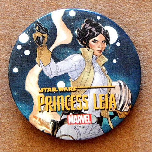 Star Wars Princess Leia Collectible 1 1/2 Inch Button Pin - Marvel Comics 2014 - Graded 9.8 By The Seller - Very Rare