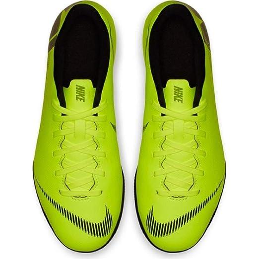 Nike Botas de Fútbol Sala Mercurial Vapor Series Suela Lisa Amarillo Fluor/Negro Niño: Amazon.es: Deportes y aire libre