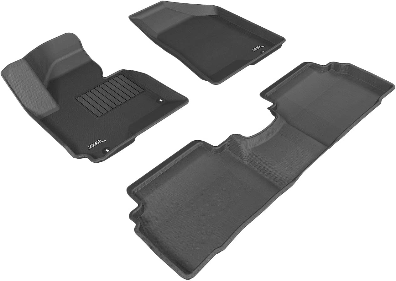3D MAXpider All 2 Row Custom Fit Floor Mat for Select Hyundai Tucson Models - Kagu Rubber (Black) 61AxVN9p2NLSL1500_