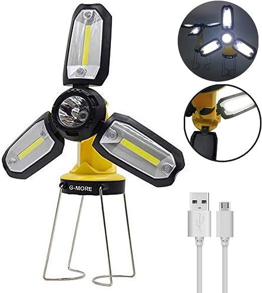 Am-Tech RECHARGEABLE USB COB FOLDING TABLE LAMP