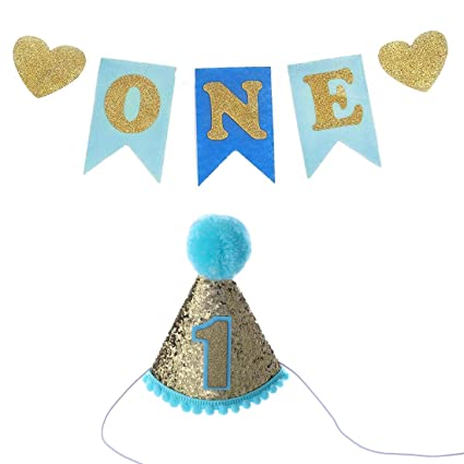 Amazon Baby First Birthday ONE Banner With Hat