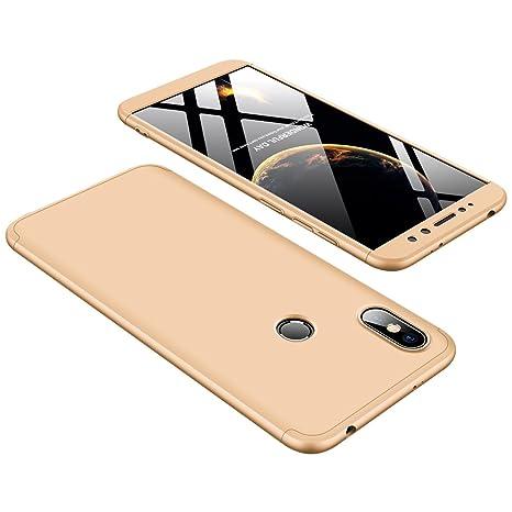 GoodcAcy Funda Xiaomi Redmi S2,Carcasa Móvil de Protección de 360°+ Cristal Templado HD Protector de Pantalla 3 en 1 Desmontable con Caso Case Cover ...