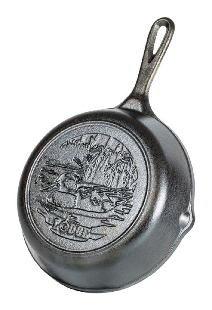 "Lodge Wildlife Series - Seasoned Cast Iron Cookware with Wildlife Scenes. 5 Piece Iconic Collector Set Includes 8"" Skillet, 10.25"" Skillet, 12"" Skillet, 10.5"" Grill Pan, and 10.5"" Griddle 10.25"" Skillet 12"" Skillet 10.5"" Grill Pan and 10.5"" Griddle"