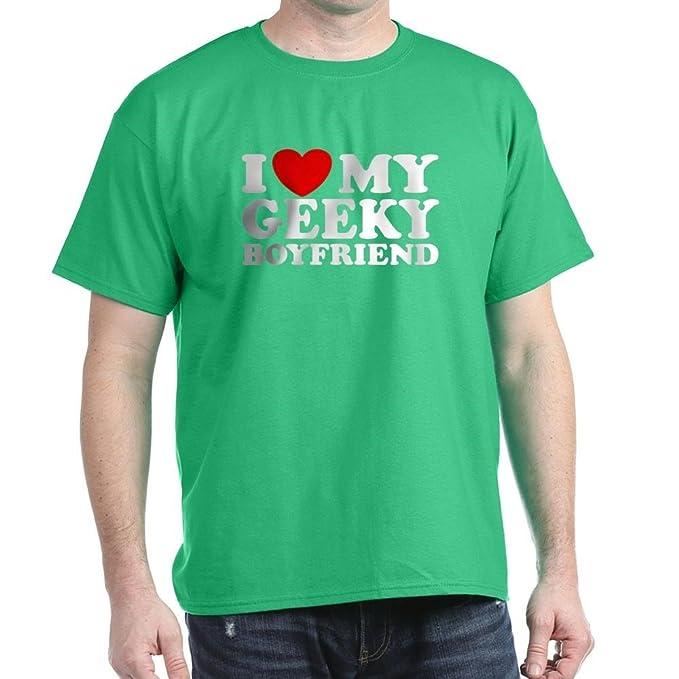 86d6951346 Amazon.com: CafePress I Love My Geeky Boyfriend 100% Cotton T-Shirt ...