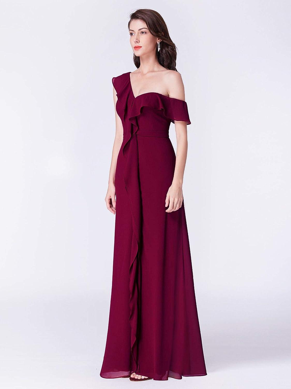 ccb05ffd2dec Ever Pretty Womens Off Shoulder Chiffon Ruffles Long Bridesmaid Dress  07431: Amazon.co.uk: Clothing
