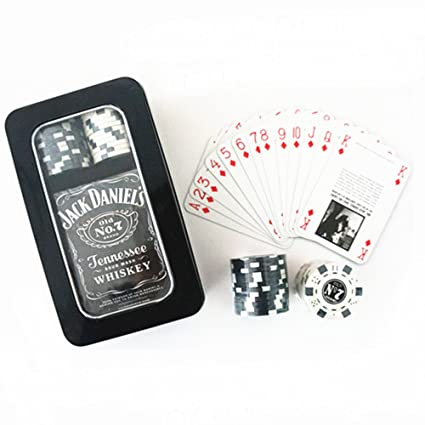 Amazon.com: Jack Daniels Poker Chip Set en caja de lata ...