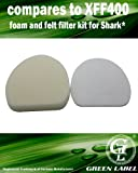 Foam and Felt Filter Kit for Shark Rotator Professional Vacuum Cleaners (compares to XFF400). Fits: NV400, NV401, NV402. Genuine Green Label Product.