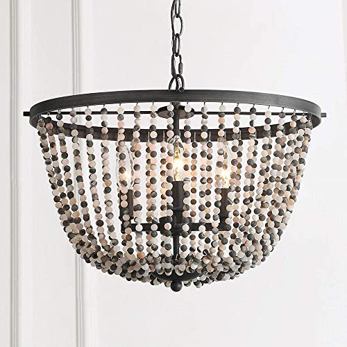 LOG BARN A03284 Stone Beaded Chandelier