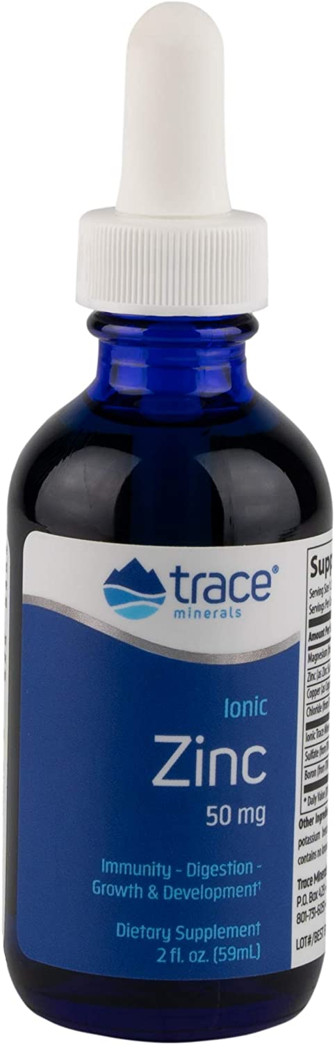 Trace Minerals Research Liquid Ionic, Zinc, 60 servings, 2 Ounce, Dietary Supplement, Magnesium,Immunity, Digestion,Growth and Development, Men and Woman