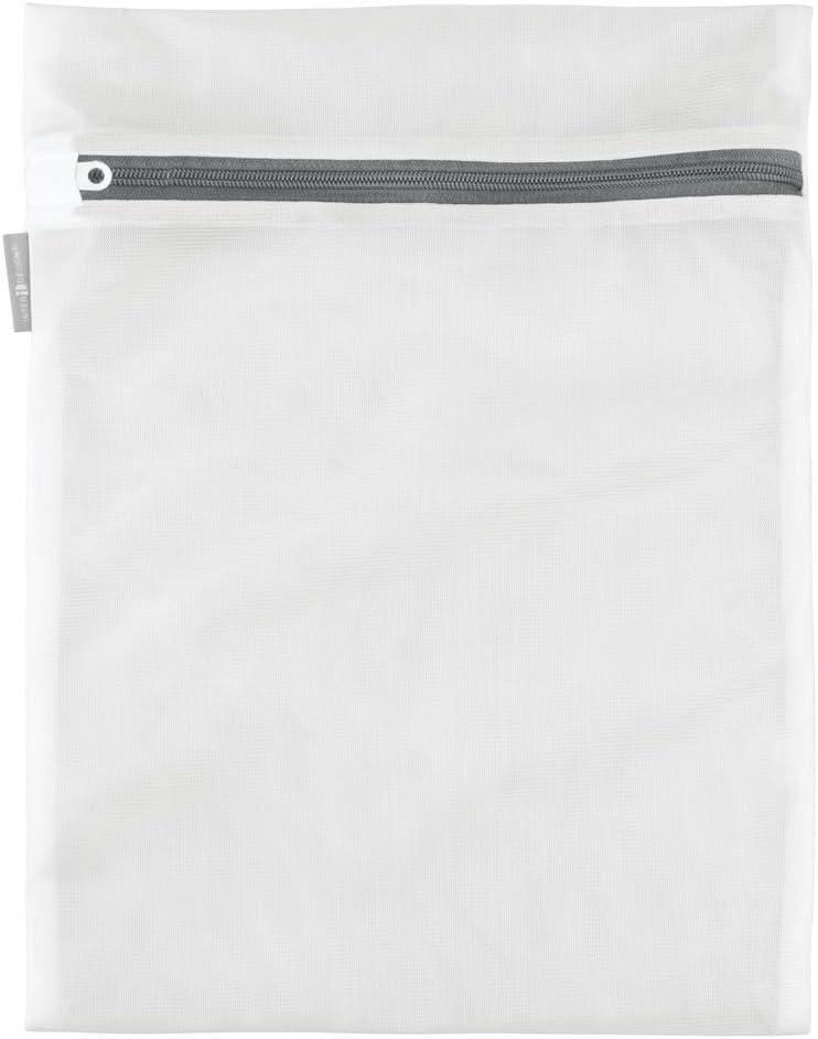 iDesign InterDesign Laundry Delicates Cleaning-Bras, Underwear-Medium, White Mesh Wash Bag