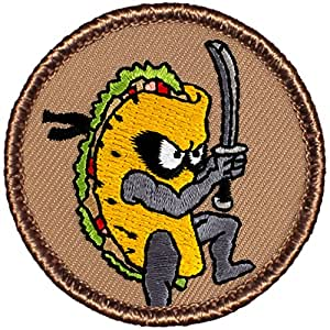 "Ninja Taco Patrol Patch - 2"" Round (Sew-on)"
