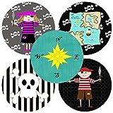 Pirate Sticker Labels - Set of 50