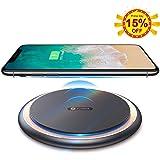 【世界初】Qi 急速ワイヤレス充電器【Qi/PSE認証済み】Andobil15Wワイヤレスチャージャー スマホワイヤレス充電器 滑り止め 軽量qi充電器 置くだけ急速充電 無線充電器 無接点充電器 iPhone XS / XS Max / XR / X / 8 / 8 Plus、Galaxy S9 / S9+ / S8 / S8+/S10/S10+/Sony xperia xz2/xz3/AirPodsその他Qi対応機種