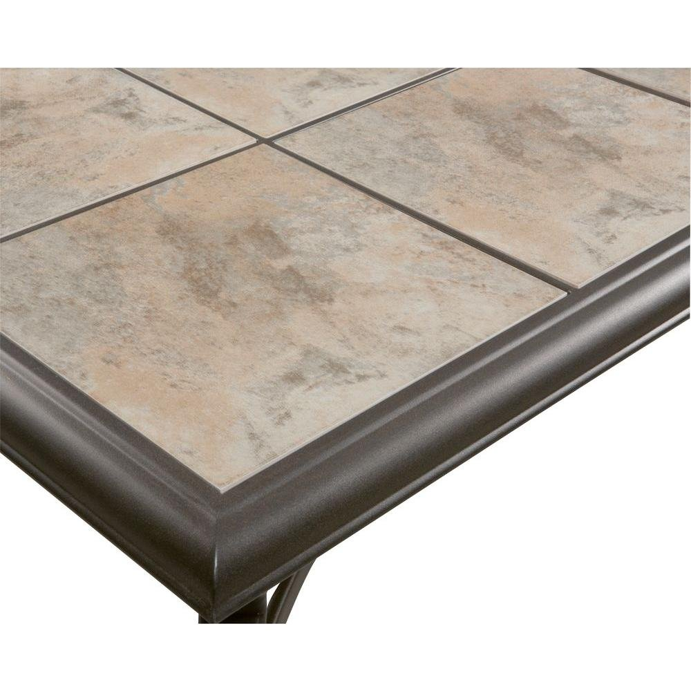 Amazon belleville fts80721 ceramic tile top outdoor patio amazon belleville fts80721 ceramic tile top outdoor patio rectangular coffee table uv weather resistant durable steel construction frame dailygadgetfo Choice Image