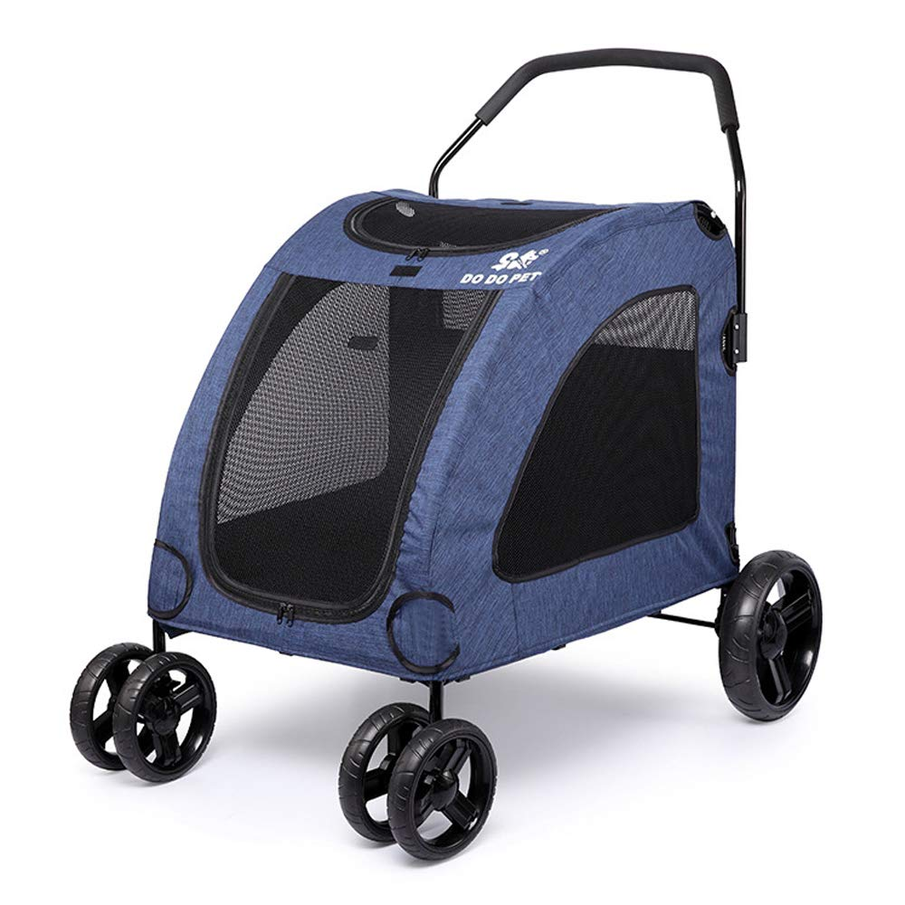 bluee Easy To Fold Pet Stroller 360 Degree redation Pet Stroller Four Seasons Four Wheel Dog Strollers for Small Large Dogs Cats,bluee