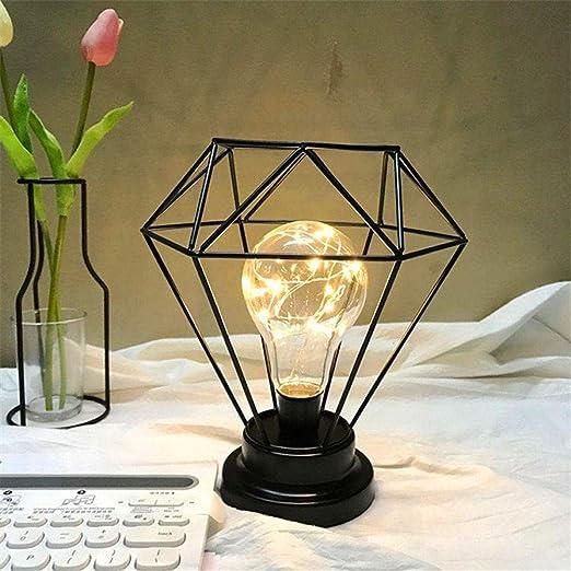 Lámparas de mesa Led de hierro de color vintage Lámpara de ...