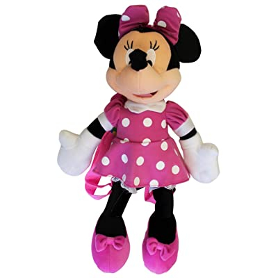 Minnie Mouse Plush Backpack - 3D Backpack - Mininie by Disney: Clothing