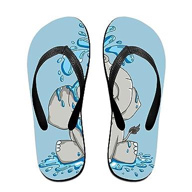 Creative Kawaii Elephant Logo Unisex Comfortable Beach Flip Flops Sandals  Slippers Sandal For Home   Beach 2a5fe615b1b5