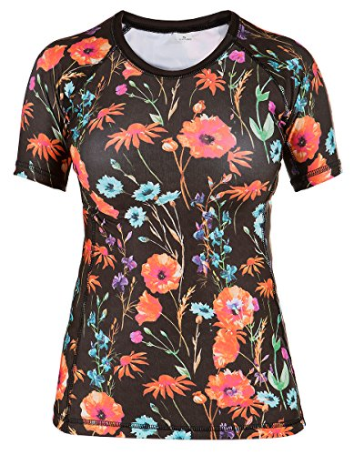 Rule Out Short Sleeve Rash Guard Top. Femmes. Gym. Taining. Sportswear. Running. Cycling. Meadow. Flowers. Motivation. Women Colection. Compression T-shirt. MMA Fightwear