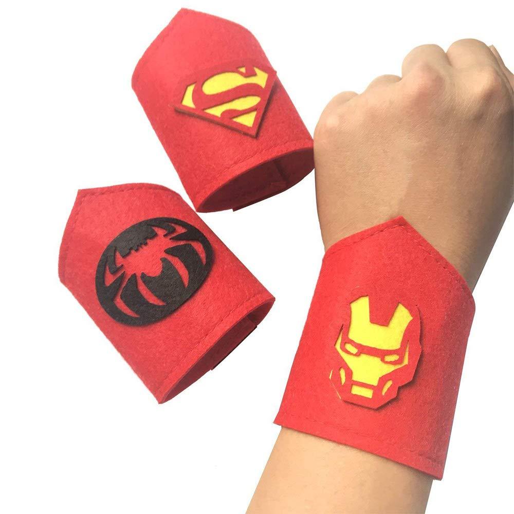 SouthStar Braccialetti per Bambini, 10pcs Superhero Braccialetti Slap per Bambini Schiaffo Bracciali Regalino per Invitati Alla Festa di Compleanno