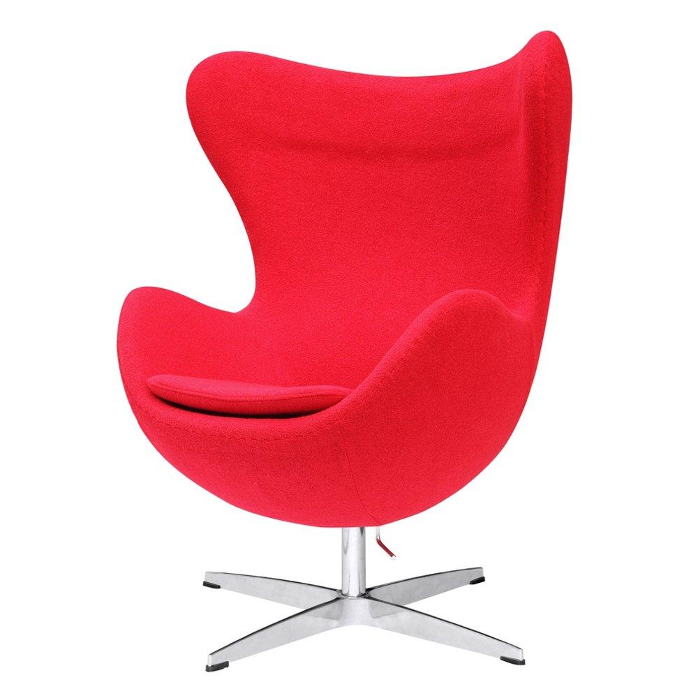 Amazon.com: Designer Modern Arne Jacobsen Egg Chair   Red 100% Wool:  Kitchen U0026 Dining