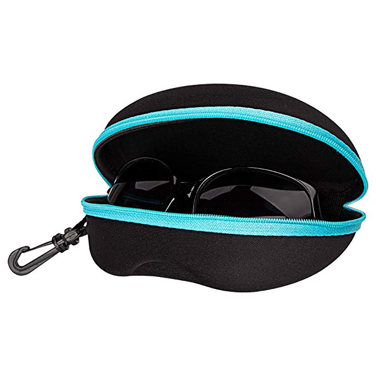 Clip Plastic Carabiner Hook FF1 Zipper Shell Sunglasses Glasses Case with Belt Loop