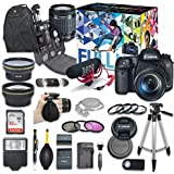 Canon EOS 7D Mark II DSLR Camera Deluxe Video Creator Kit with Canon EF-S 18-55mm f/3.5-5.6 is STM Lens + Rode VIDEOMIC GO Microphone + SanDisk 32GB SD Memory Card + Accessory Bundle