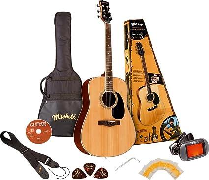 Mitchell D120PK - Guitarra acústica: Amazon.es: Instrumentos musicales