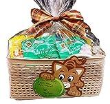 Lulu's Baskets PET MASCOT DOG CAT Gift Basket Beautiful basket with food + Gifts (CAT GIFT BASKET)