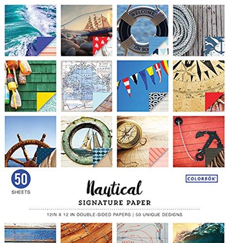 (12x12 Signature Paper Pad Nautical)