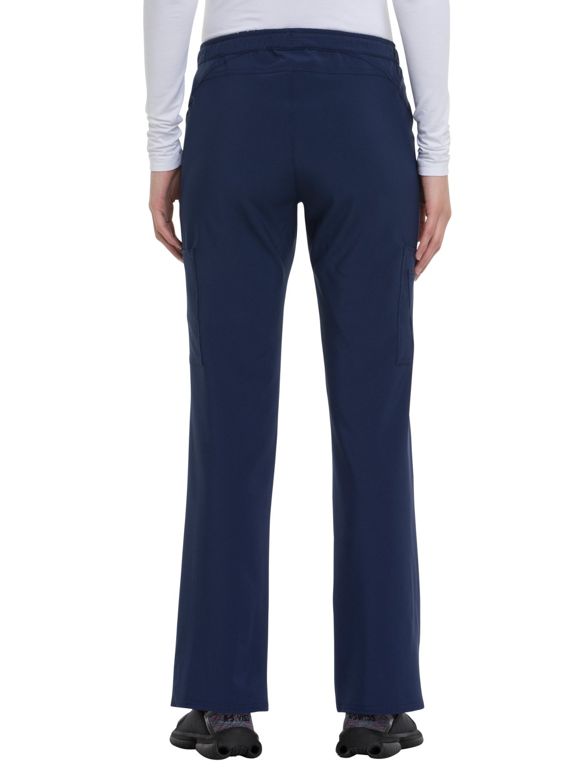 HeartSoul Love Always by Women's Charmed Low Rise Drawstring Cargo Scrub Pant Small Petite Navy by HeartSoul (Image #2)