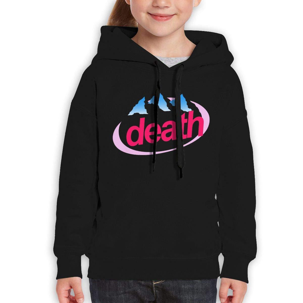 MUPTQWIU Girl Death Evian Cyberpunk Casual Style Climbing Black Sweater