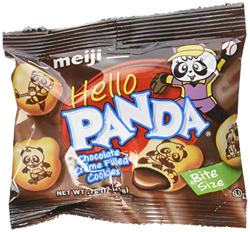 Creme Filled Chocolate Cookies - Meiji Hello Panda Chocolate Creme Filled Cookies Jumbo Box - 32 Bags (32 - .75 Oz Bags = 24 Oz)