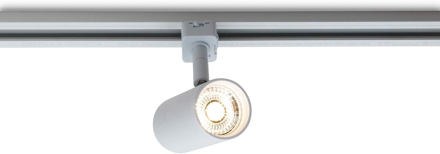 GE Lighting LTCIDA110WF930PQJ1WHTE LTC Series LED Track Light with Wide Food Beam Distribution, White
