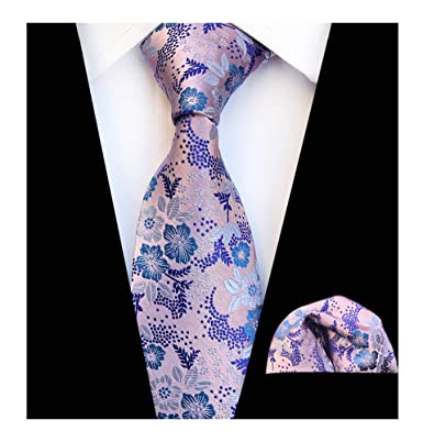 70f5da5e7aaf3 Mens Pink Blue Silk Tie Summer Cool Gentleman Party Jacquard Self Cravat  Necktie