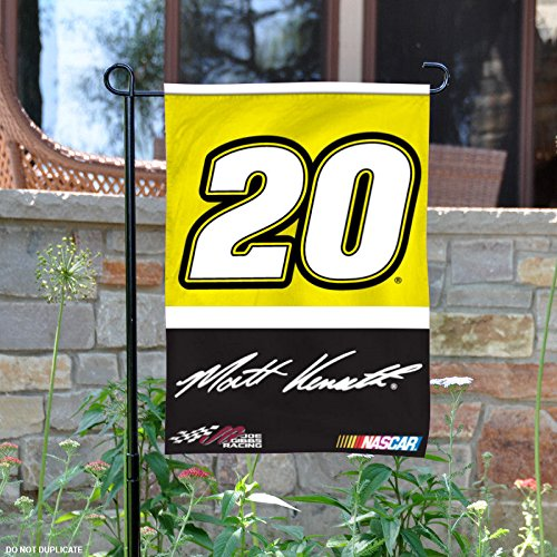 Matt Banner (Matt Kenseth #20 Deluxe 2-Sided GARDEN Flag WITH METAL POLE Banner Nascar Racing)