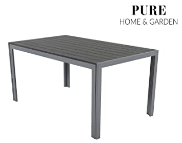 Pure Home Garden Aluminium Gartentisch Fire Xxl Mit Polywood Tischplatte 180x90 Absolut Wetterfest Silber Aus Dem Hause