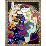 overstockArt The Virgin by Klimt with Rococo Silver Framed Artwork